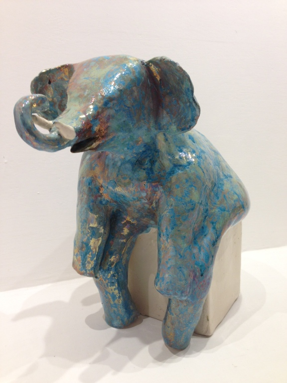 BIG BLUE ELEPHANT by the artist Paola Staccioli